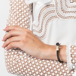{ Salvatore Ferragamo } Gancini Leather Bracelet